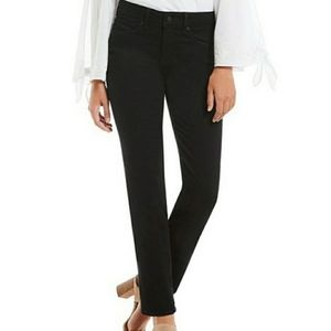 NYDJ  Black Marilyn Straight Leg Black Jeans